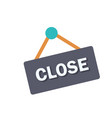 close sign flat icon vector image vector image