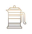 coffee french press icon vector image vector image
