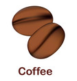 coffee icon realistic style vector image vector image