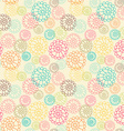 Color seamless floral hand drawn pattern vector image vector image