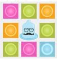 Contraception methods icon set Birth control vector image