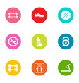 corporeal icons set flat style vector image vector image