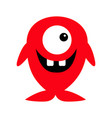 cute red monster icon happy halloween cartoon vector image vector image