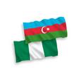 flags azerbaijan and nigeria on a white