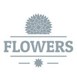 flower spring logo simple gray style vector image vector image