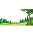 Forest border vector image vector image