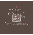Gift box with hearts vector image vector image