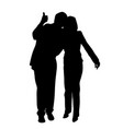 happy couple with thumb up vector image vector image