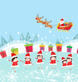 Happy Kids Decorating santa claus With gifts vector image vector image