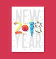 happy new year 2019 poster greeting card placard vector image vector image