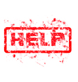 help Grungy red dirty ink stamp format vector image