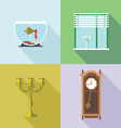 Home decorations set Digital image vector image