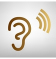 Human ear sign Flat style icon vector image vector image