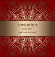 invitation in red and gold colours vector image vector image
