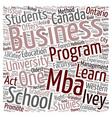 Ivey School Of Business text background wordcloud vector image vector image