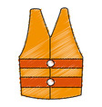jacket construction isolated icon vector image vector image