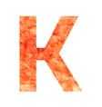 k land letter vector image