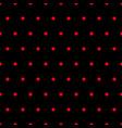 ladybug red polka dots on black background vector image vector image