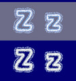 letter z on grey and blue background vector image