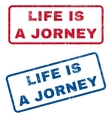 Life Is a Jorney Rubber Stamps vector image vector image