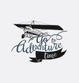 logo with go to adventure time text vector image