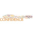 maximum confidence text background word cloud vector image vector image