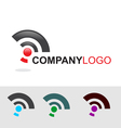 Modern logo and icon set vector image vector image