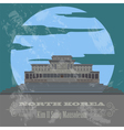 North Korea landmarks Retro styled image vector image
