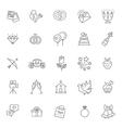 Outline web icon set wedding vector image vector image