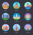 pack of world cities 7 vector image