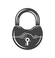 Padlock Black icon logo element flat isolated on vector image