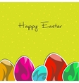 paper eggs Happy easter card vector image vector image