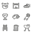 Physical education simple line icons vector image