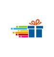 pixel art gift logo icon design vector image vector image
