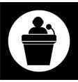 podium icon vector image