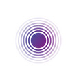 purple gradient rings sound or waves in circle vector image