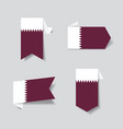 qatari flag stickers and labels vector image