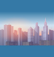 realistic soft cartoon cityscape vector image vector image