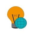 regular lightbulb and earth globe diagram icon vector image