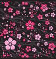 sakura japan cherry branch with blooming flowers vector image vector image