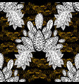 seamless golden textured curls in oriental style vector image vector image