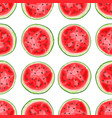 seamless pattern with watermelons slices vector image vector image