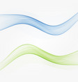 set abstract color wave smoke transparent blue vector image vector image