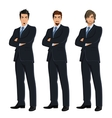 Set of business men vector image