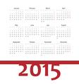 Simple european 2015 year calendar vector image vector image