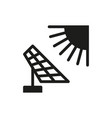 solar energy panel icon on white background vector image