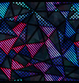 spectrum color triangle seamless pattern vector image