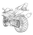 sport motorcycle technical wire-frame vector image vector image