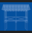 summer house sketch vector image