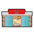 supermarket building front icon vector image